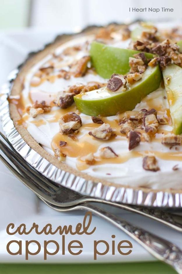 No-Bake Snickers Caramel Apple Pie