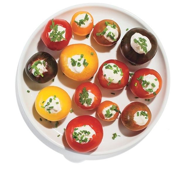 Horseradish-Stuffed Cherry Tomatoes