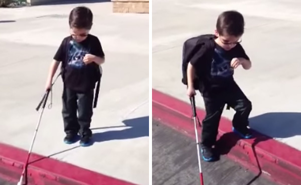 A Blind Boy Steps Off Of A Curb. Prepare Your Heart And Watch What Happens Next.