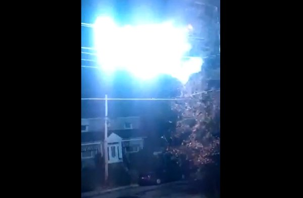 Electrical Fireball in Montreal (Video)