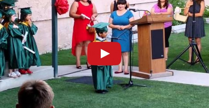 Pre-schooler's brief but inspiring graduation speech about his hopes and dreams for the future