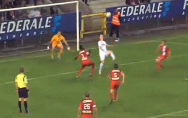 Belgian Player Turns Penalty Miss into Goal with Bicycle Kick (Video)