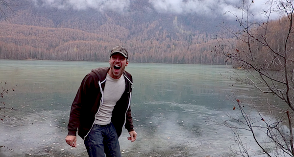Guy In Alaska Discovers How Cool Skipping Rocks On Frozen Water Sounds (Video)