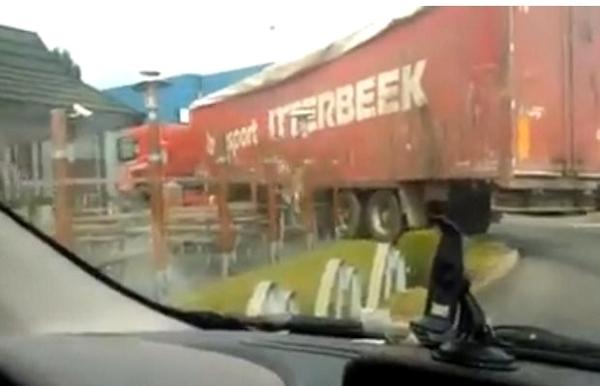 Trucker Causes Havoc at McDonald's in Belgium (Video)