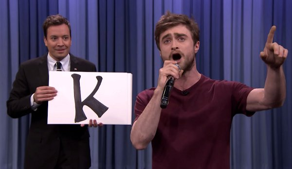 Daniel Radcliffe Raps Alphabet Aerobics by Blackalicious (Video)