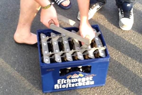 Opening a Case of Beer Like a Boss (Video)