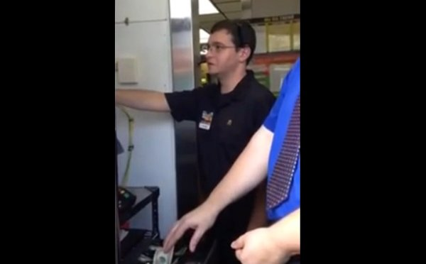 McDonald's Employee Sounds like a Recording (Video)