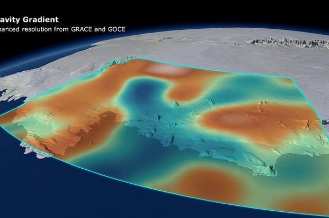 Loss of Antarctic Ice Causing Gravity Dips