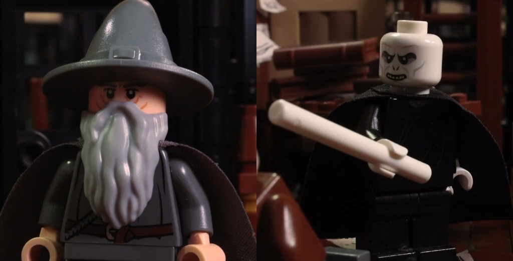 LEGO Voldemort and Gandalf Battle for Reigning Wizard