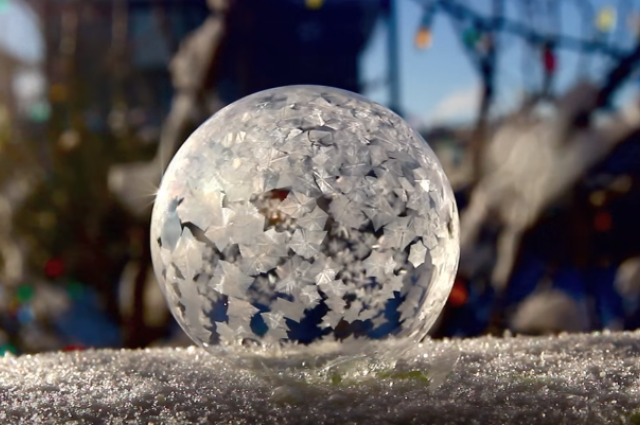 Watch What Happens When You Blow A Bubble In The Winter In Calgary