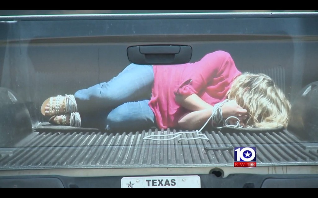 Texas Company Selling A Truck Decal Of A Hog-Tied Woman Accused Of Promoting Sexual Assault