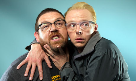 "Simon Pegg And Nick Frost's Rendition Of ""Get Lucky"" Is The Cutest Thing"