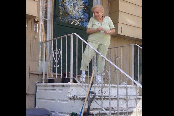 Grandma Dances Her Way to the Car (Video)