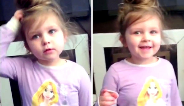 Little Girl Adorably Fails at Singing 'One Day We Went to the Zoo' Song with Her Dad (Video)