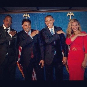 Forward! Obama still acting out Jay-Z lyrics on the campaign trail