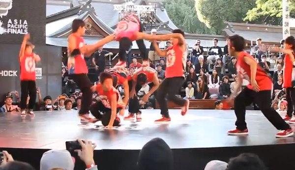 Japanese Breakdance Crew with Ninja Skills (Video)