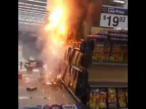 "Intoxicated ""Pranksters"" Lit a Fireworks Display Inside a Wal-Mart Store"