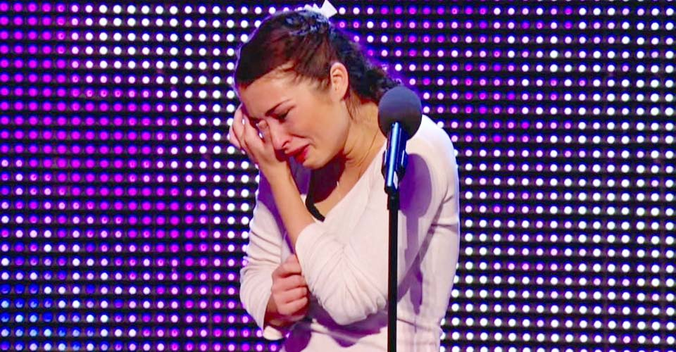 She Bursts Into Tears When Simon Says This About Her Voice. Now Watch What He Does Next.