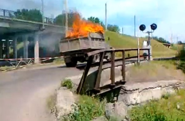 Russian Fire Truck (Video)