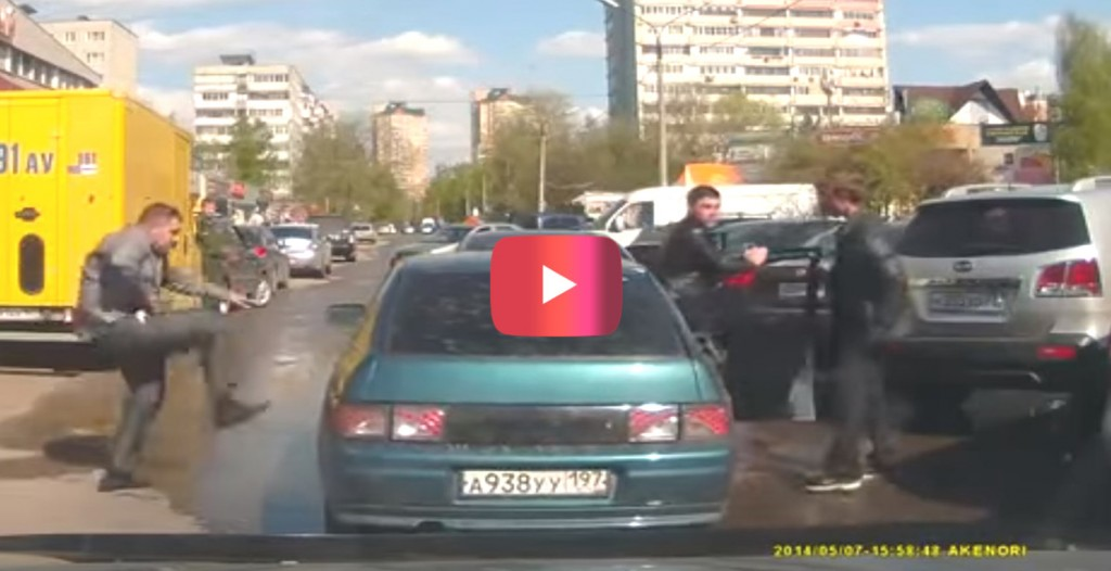 Road raged Russians quickly regret what they've started.