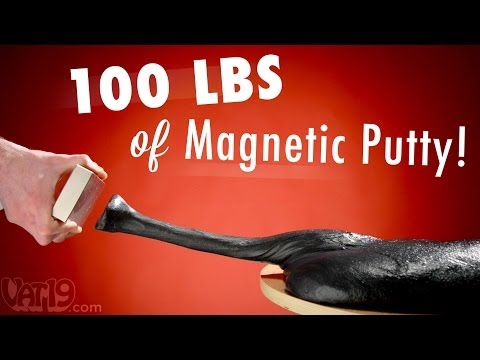 Having Fun With 100 Pounds of Magnetic Putty