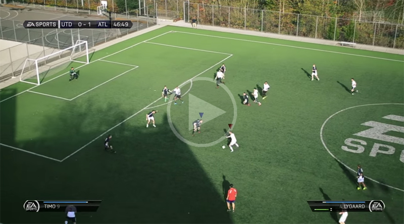 Someone Made a Real-Life Video Game Version of FIFA