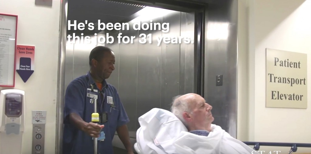 Transporter Sings To Comfort Patients