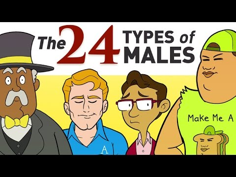 Do You Know All 24 Types of Males?