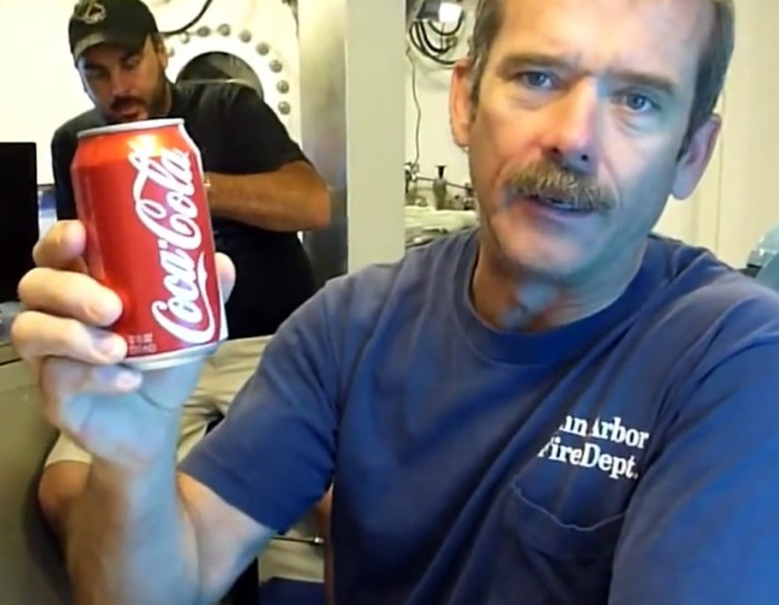 What happens when you open a can of soda at the bottom of the ocean