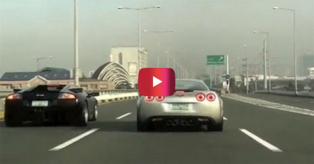 When This Lamborghini Took On A Corvette Z06 My Jaw Dropped
