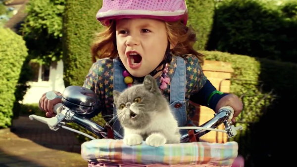 Little Girl and Cat Sing in Three's 'We Built This City' Ad (Video)