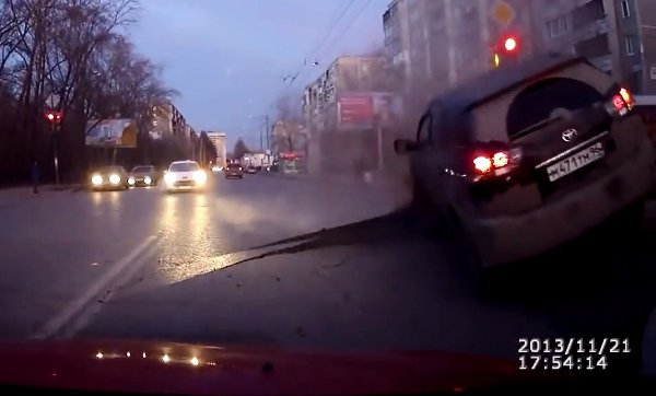 Sudden Road Explosion in Russia (Video)