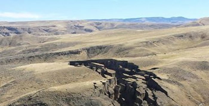 This Massive Crack Mysteriously Appeared In A Wyoming Mountain Range (Video)