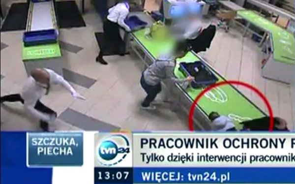 Airport Security Officer Makes Amazing Catch to Save Baby in Poland (Video)