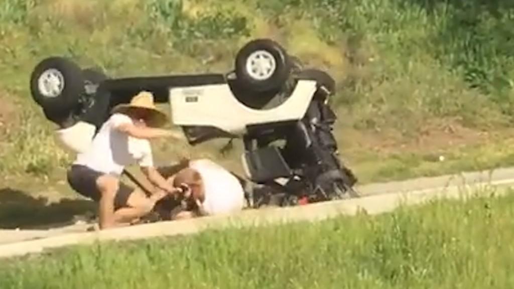 Golf Cart Rollover (Video)