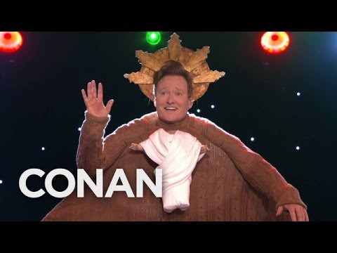Conan O'Brien Hosts a Holiday Sweater Competition for His Staff