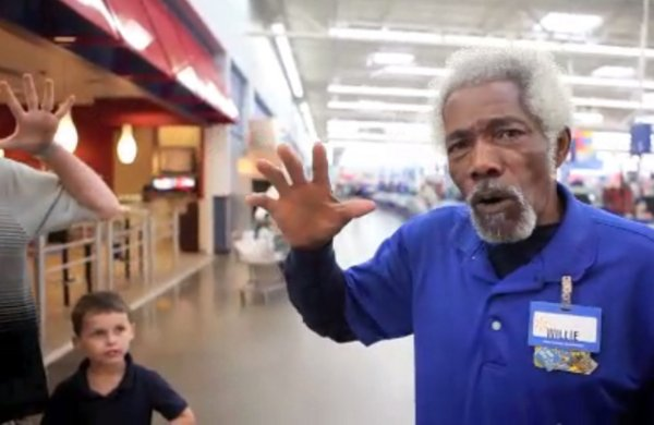 Mr. Willie, the Wal-Mart Greeter from Maumelle, Arkansas (Video)