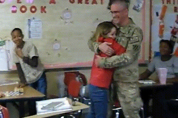 Watch As This Soldier Surprises His Daughter In School For Valentine's Day