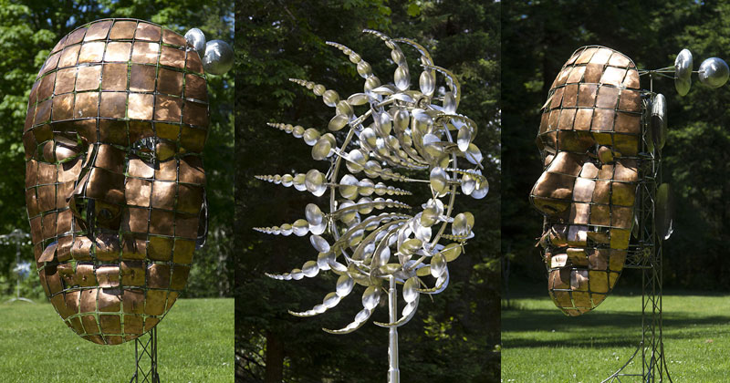 Kinetic Wind-Powered Sculptures by Anthony Howe
