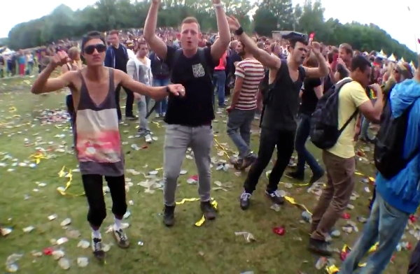 Dutch Ravers Dancing to Benny Hill Music (Video)