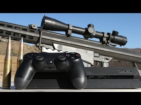 Community Post: Playstation 4 Gets Destroyed By .50 Cal - And Yes There's Slow Mo!