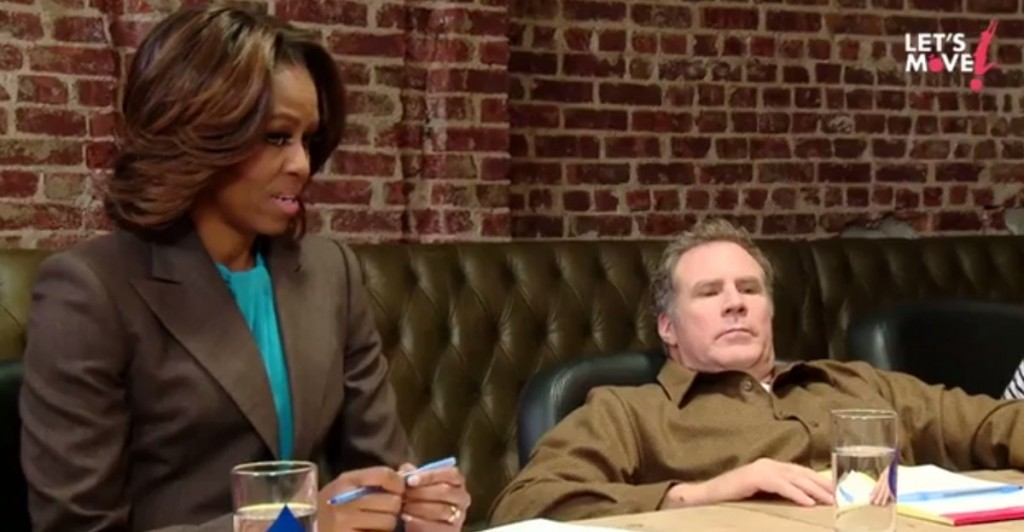 Michelle Obama And Will Ferrell Talk To Kids About Food And Play. It Gets Pretty Cute Pretty Fast.