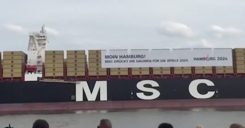 You'll Recognize The Epic Song Playing As This Cargo Ship Pulls Into A Port