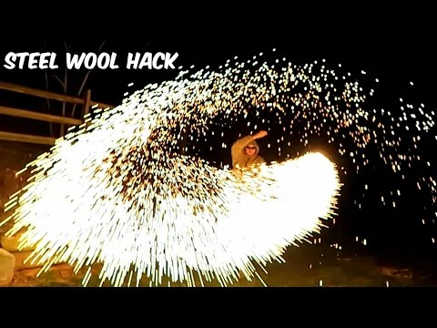 These Steel Wool Sparklers are the Coolest DIY Project