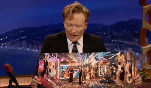 Conan: Kardashians Christmas Card Has a Secret Message (Video)