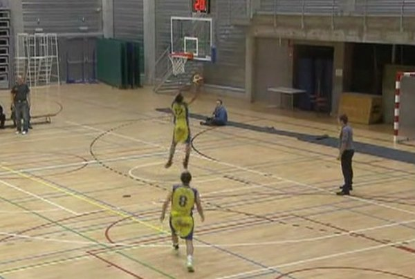 Belgian Basketball Player Misses 4 Shots at His Own Basket