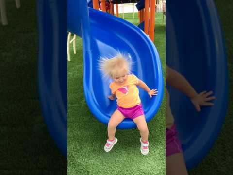 A Plastic Slide Made This Toddler (ec)Static