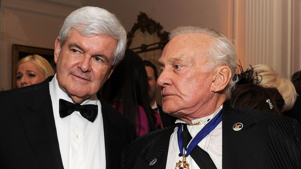 Newt Gingrich's Google Glass Tour Continues With Buzz Aldrin