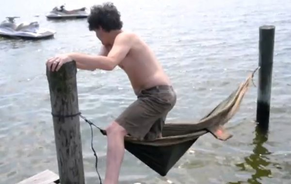 Dock Hammock Fail (Video)