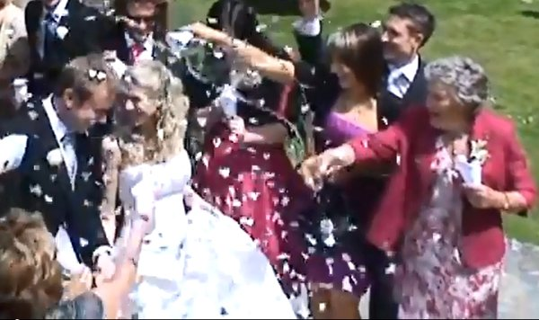 Granny Fails at Throwing Confetti (Video)